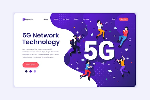 5g-netzwerktechnologie personen, die eine drahtlose hochgeschwindigkeitsverbindung verwenden 5g abbildung