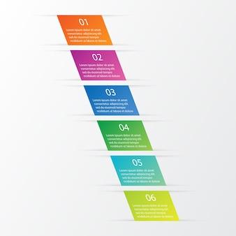 6 infografiken optionen für die präsentation eingestellt