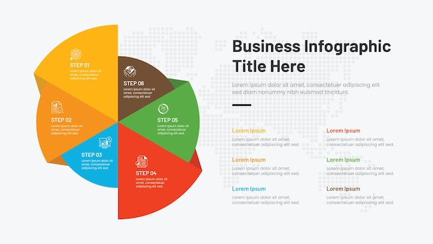 6 schritte kreative infografik-vorlage