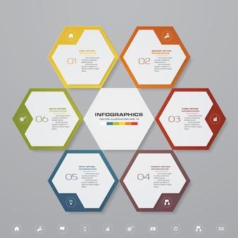 6 schritte verarbeiten infographics element für darstellung.