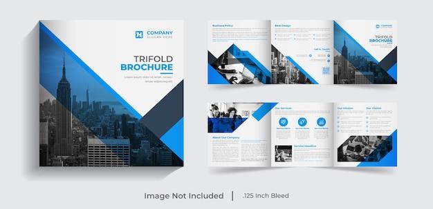 6-seitiges kreatives, modernes, dreifach gefaltetes business-broschüren-design für das unternehmen