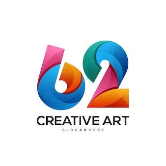 62 logo buntes farbverlaufsdesign