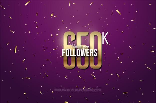 650.000 follower mit goldenen zahlen und punkten