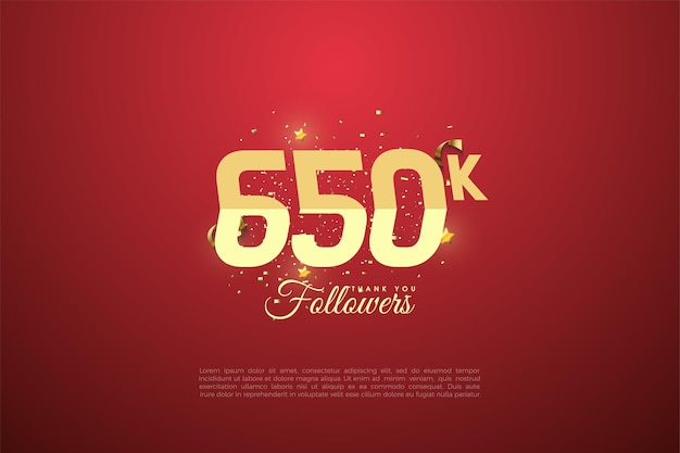 650k follower illustrationshintergrund
