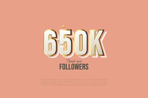 650k follower mit vergoldeten zahlen