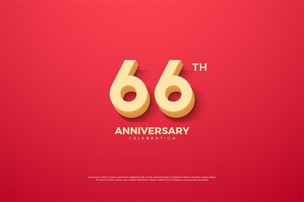 66-jähriges jubiläum mit animierten zahlen