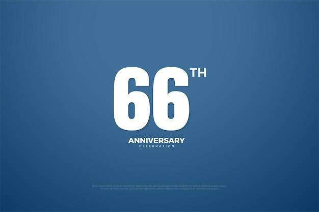 66-jähriges jubiläum mit einfachen zahlen