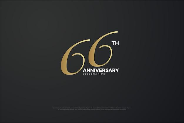66-jähriges jubiläum mit einzigartigen zahlen