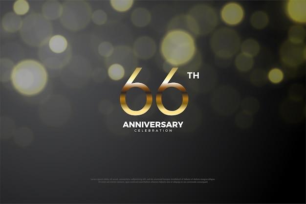 66-jähriges jubiläum mit goldenen zahlen