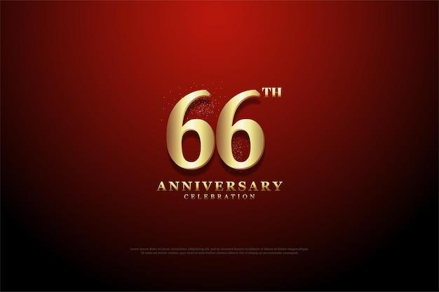66-jähriges jubiläum mit skizziertem hintergrund