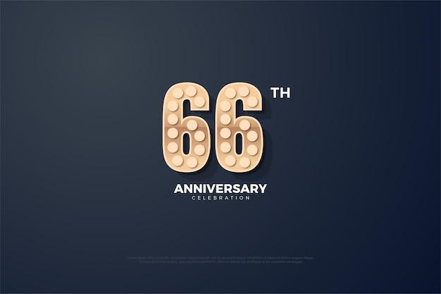 66-jähriges jubiläum mit strukturierten zahlen