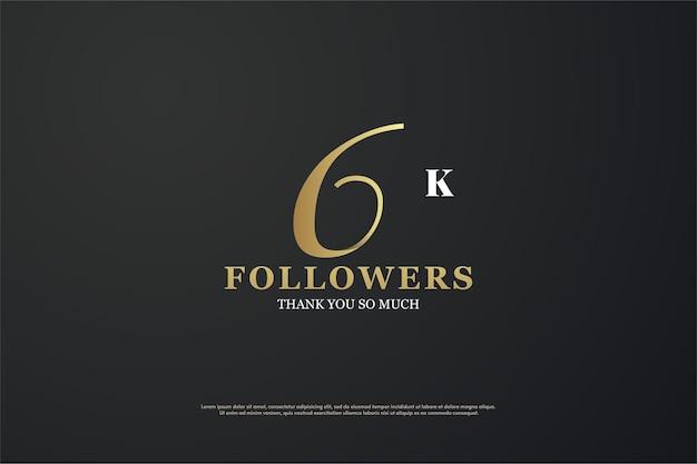 6k follower mit einzigartigen flachen zahlen
