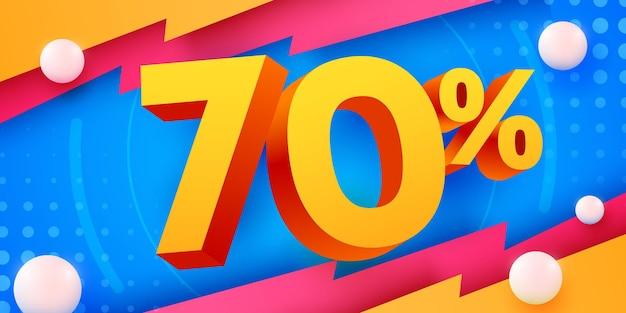 70 prozent rabatt auf kreative komposition d mega-verkaufssymbol mit dekorationsobjekt-verkaufsbanner und poster