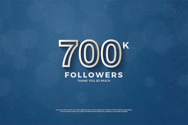 700.000 follower hintergrund mit umrandeten zahlen