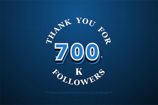 700.000 follower hintergrund mit zahlen