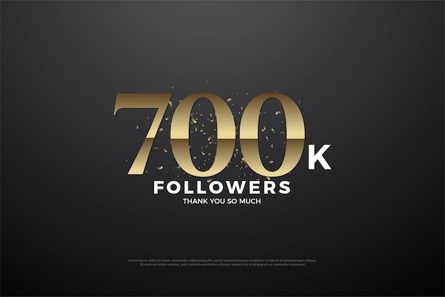 700.000 hintergrund-follower mit einzigartigen flachen zahlen