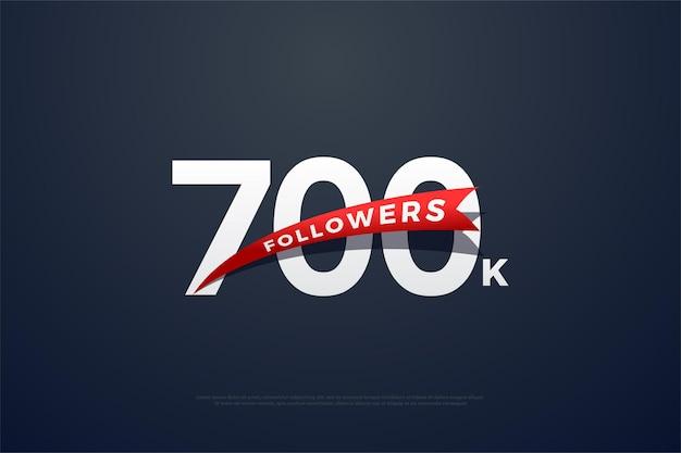700k follower hintergrund mit reinweißen zahlen