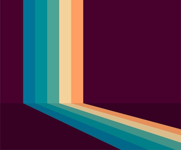 70er jahre, 1970 abstrakter vektorvorrat retro-linien hintergrund. vektor-illustration.