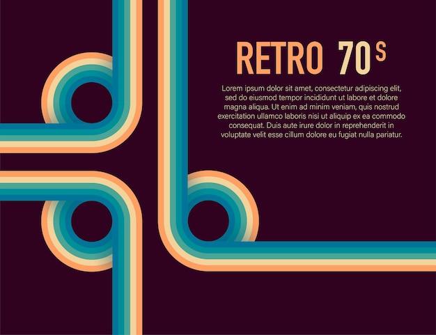 70er jahre, 1970 abstrakter vektorvorrat retro-linien hintergrund. vektor-illustration