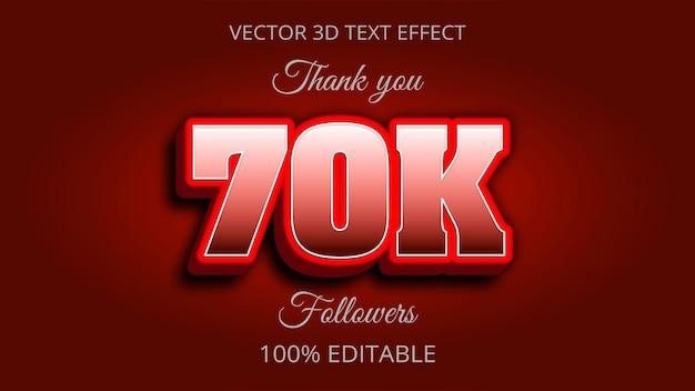 70k 3d-texteffekt kreatives design