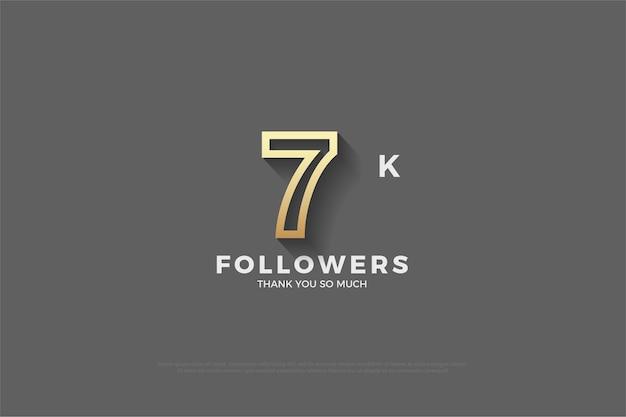7k follower mit braun umrandeten zahlen auf grauem hintergrund