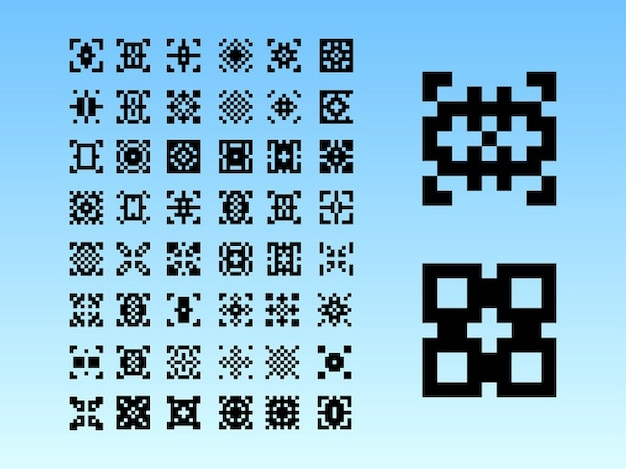 8-bit-grafiken digitale kunst muster hintergrund