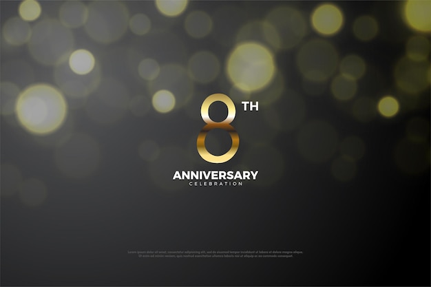 8. jubiläum mit goldenen zahlen