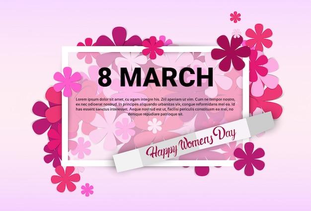 8. märz international women day-grußkarte