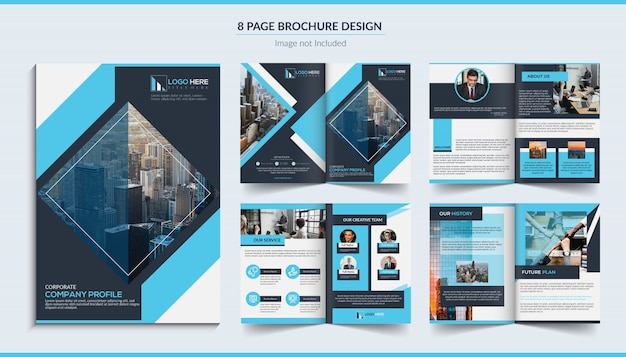 8 seiten corporate brochure design