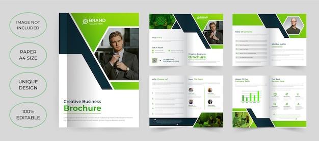 8-seitiges broschüren-vorlagendesign