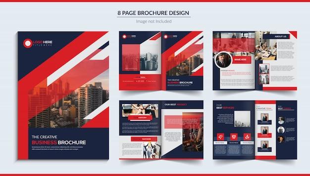 8-seitiges broschürendesign