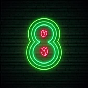 8-stellige leuchtreklame
