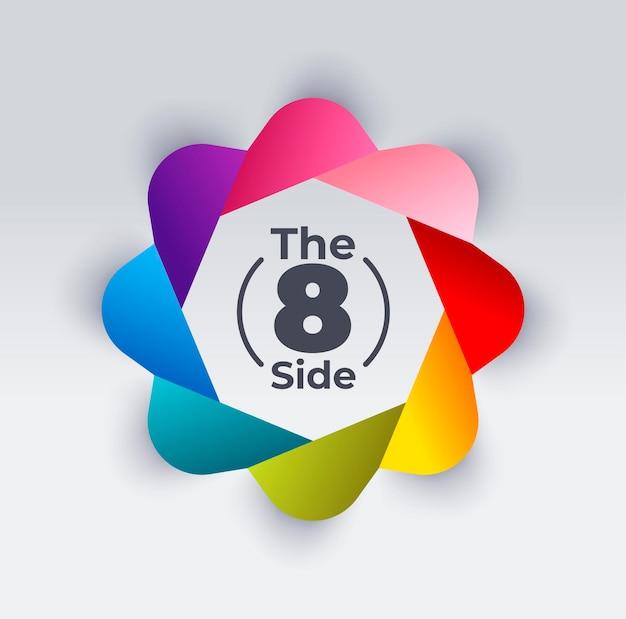 8-wege-infografik-kreisvorlage mit unterschiedlicher farbe. präsentationsvorlage.
