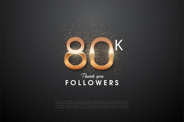 80.000 follower mit einem funkelnden herzstück.