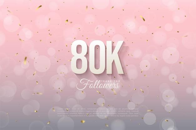 80.000 follower mit leicht schattierten zahlen.