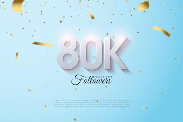 80.000 follower mit leicht verblassten 3d-figuren.