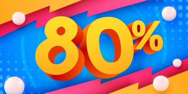 80 prozent rabatt auf kreative komposition d mega-verkaufssymbol mit dekorativen objekten verkaufsbanner und poster and
