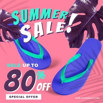 80% rabatt auf die sommer-sale-aktion