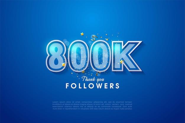 800.000 follower mit design-luxus