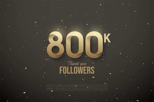 800.000 follower mit gemusterten zahlen