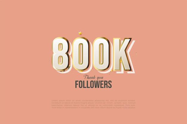 800.000 follower mit goldenen zahlen