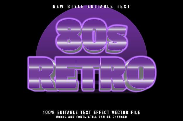 80er jahre retro-bearbeitbarer texteffekt prägen retro-stil