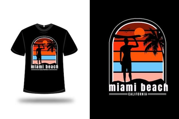 87 t-shirt berg geboren, um colorado farbe rot orange und dunkelgrün creme zu klettern