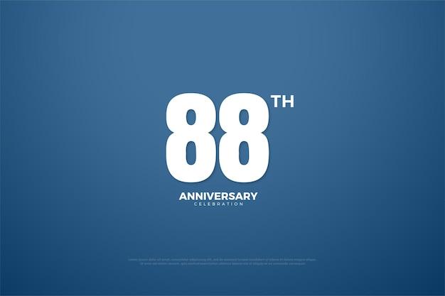 88-jähriges jubiläum mit flat numbers edition