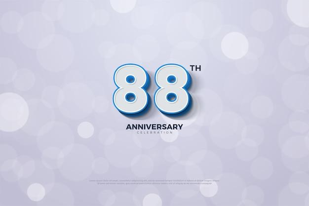 88-jähriges jubiläum mit geprägter 3d-nummern-edition