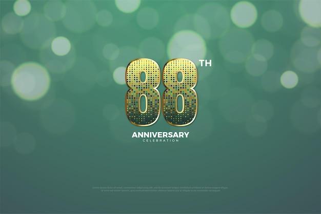 88. jubiläum mit glitzerzahlen