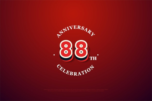 88. jubiläum mit zeitgenössischen zahlen