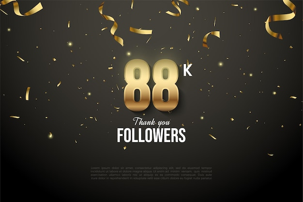 88k follower mit flachem zahlendesign