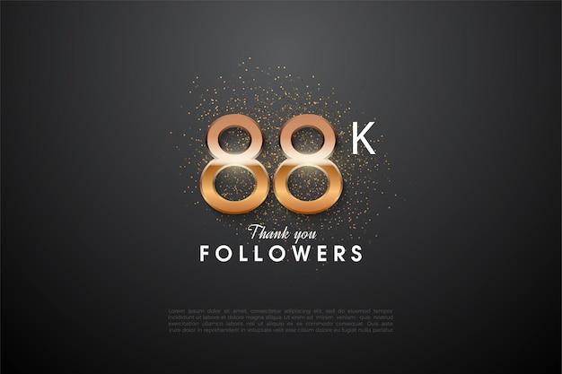 88k follower mit leuchtender zahl