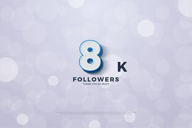 8k follower mit 3d-nummer